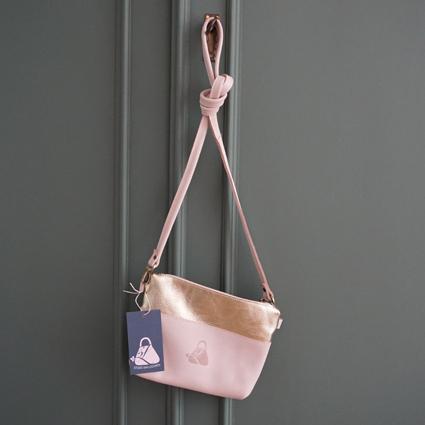 handmade leather bag colour nude my treasure studio van leeuwen