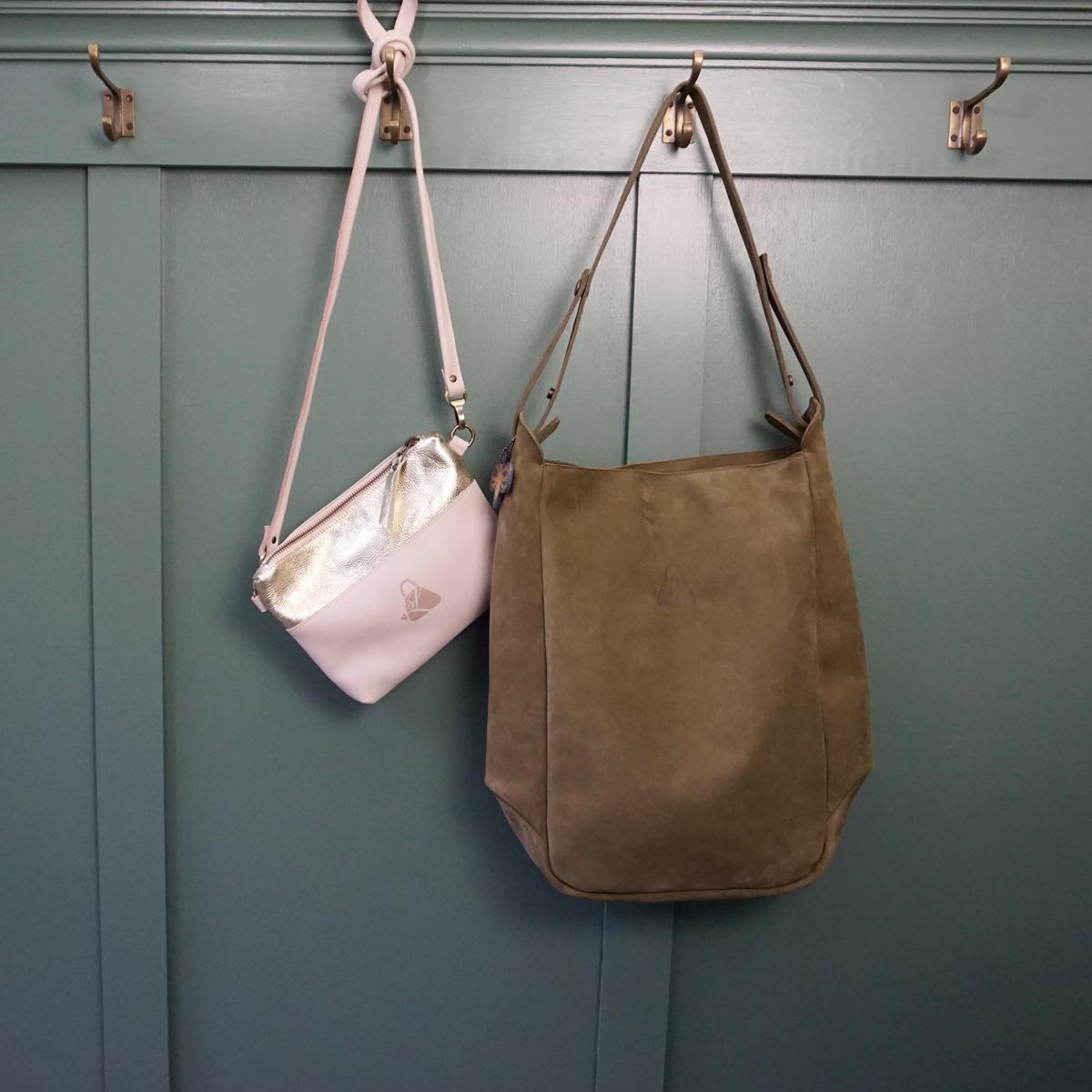 Handgemaakte leren tassen studio van Leeuwen Grote shopper