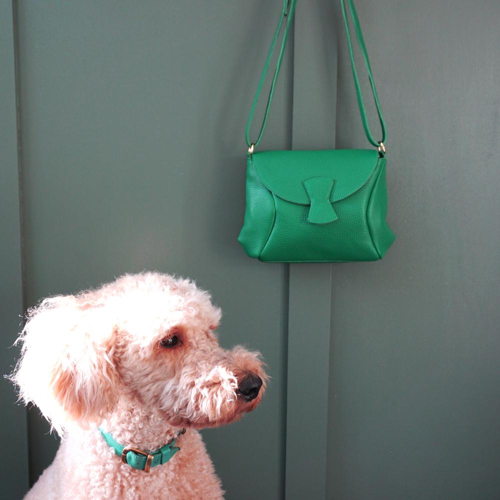 groene leren tas handgemaakt in Utrecht